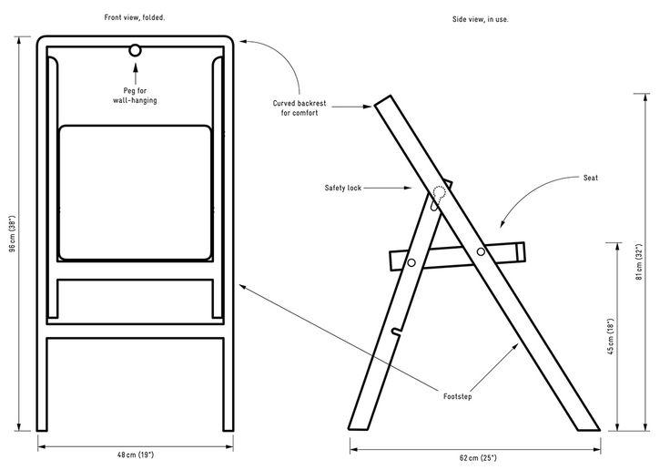 Drawing Of Step Mini Step Stool Folding Chair Planos