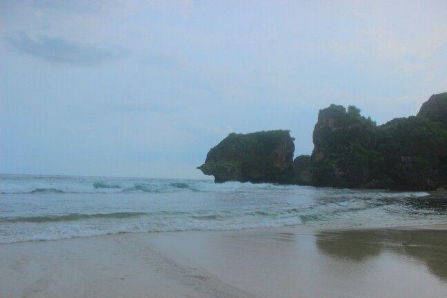 Pantai Siung, Wonosari, Central Java, Indonesia