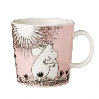 Moomin mug Love, pink