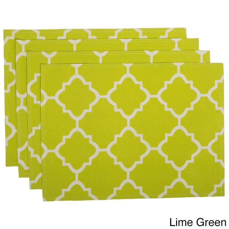 HRH Designs Indoor/Outdoor Contemporary Pattern Placemats