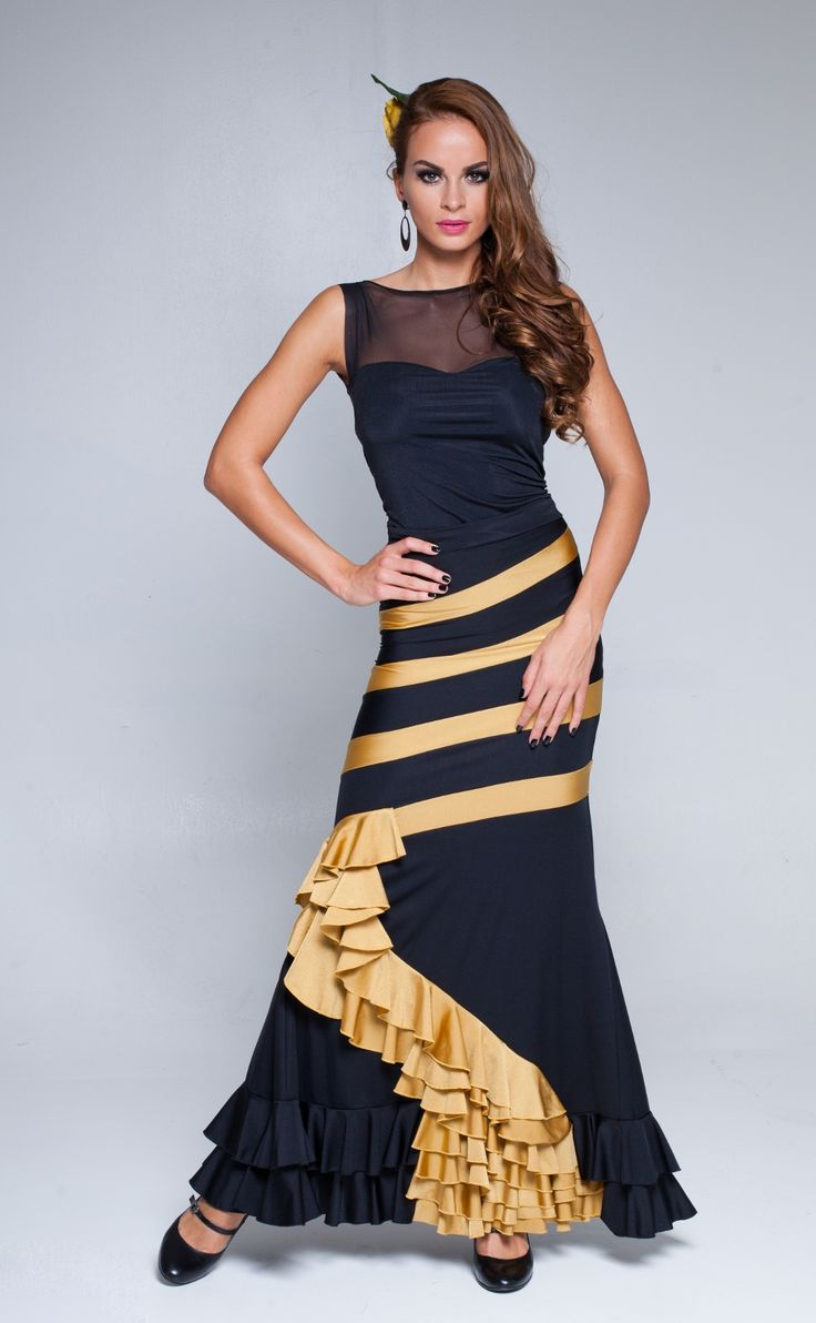 "Stunning handmade ""ribbon"" skirt, flamenco style!"