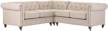Gordon Sectional Sofa - Chesterfield Sectional - Tufted Sectional - Tufted Sectional Sofa - Living Room Sectionals | HomeDecorators.com Color: Brown Bonded Leather
