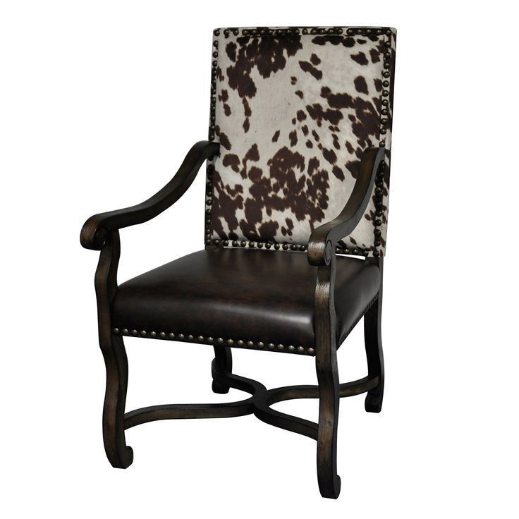 Mesquite Ranch Leather And Faux Cowhide Accent Chair