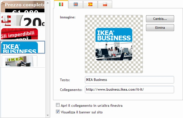 gestione #ecommerce #Banners