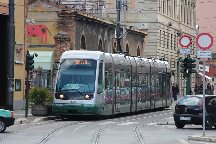 A Roma 2 Tram on its way to Mancini. #roma #tram #lightrail #train #mancini