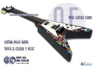 Guitar Money Bank Psych-o-Colour V Neck