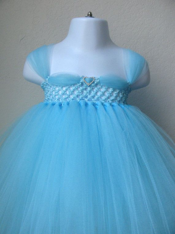 * Adorable light blue new Cinderella tutu dress for your little princess! * Handmade in the USA * Perfect for photo shoots, birthdays, halloween,
