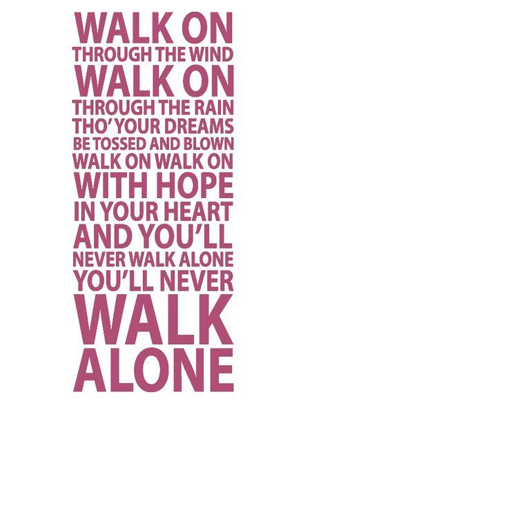 Lyric lyrics you ll never walk alone : Best 25+ Liverpool you'll never walk alone ideas on Pinterest ...