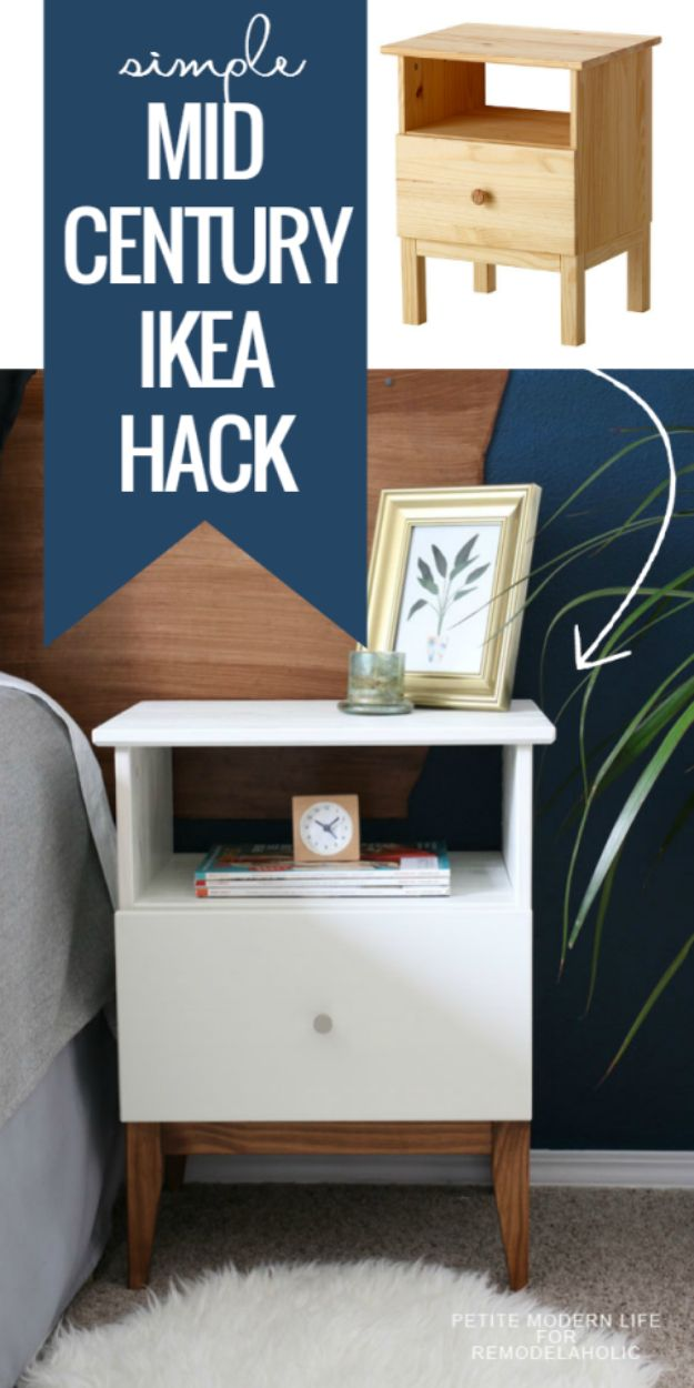 25 best ideas about ikea hack nightstand on pinterest for Ikea platform bed with nightstands