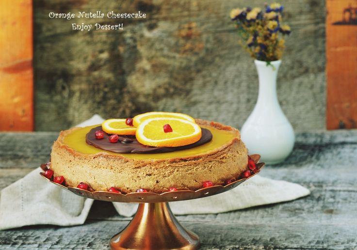 Orange Nutella Cheesecake