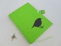 Tagebuch mit Schloss, green Bird