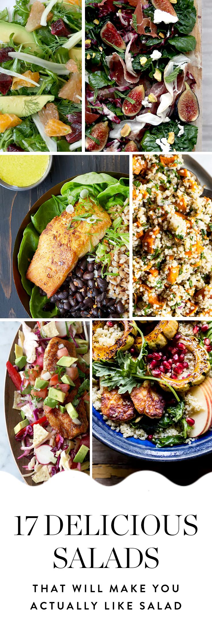 Before you denounce salads forever, we have 17 flavor-packedversionswepromiseyou'll be into. Get the recipes here.