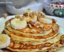 High Protein, Low Sugar Breakfast - cottage cheese pancakes! Made them this morning ... these are so delicious!