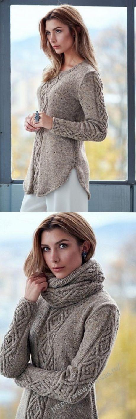 КЛУБОЧЕК - вязание рукоделие.Узор для пуловера спицами