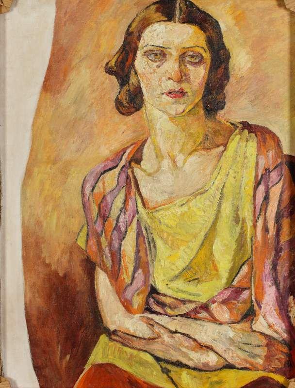 """Autoportret – nieskończony"""", 1936-1939  by Mela Muter (Polish/French 1876-1967)"""