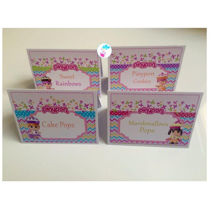 Pinypon theme birthday #place cards #myshowerbox.com