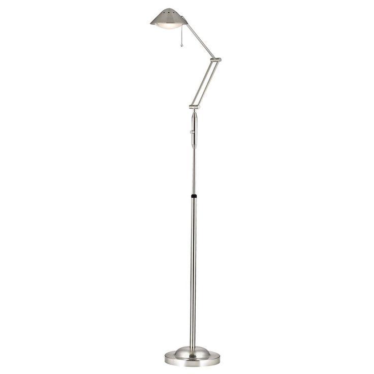 LEDs by ZEPPELIN Swing Arm LED Floor Lamp in Satin Nickel JF-991-SN