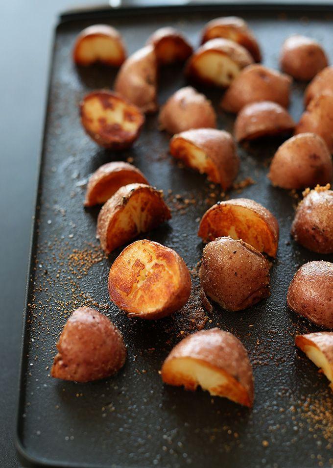 Simple, 3-step breakfast potatoes. The BEST breakfast potatoes I've ever had #vegan #glutenfree
