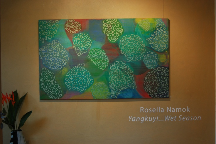 Come in and warm up at Coo-ee Gallery this weekend, Rosella Namok's exhibition on now