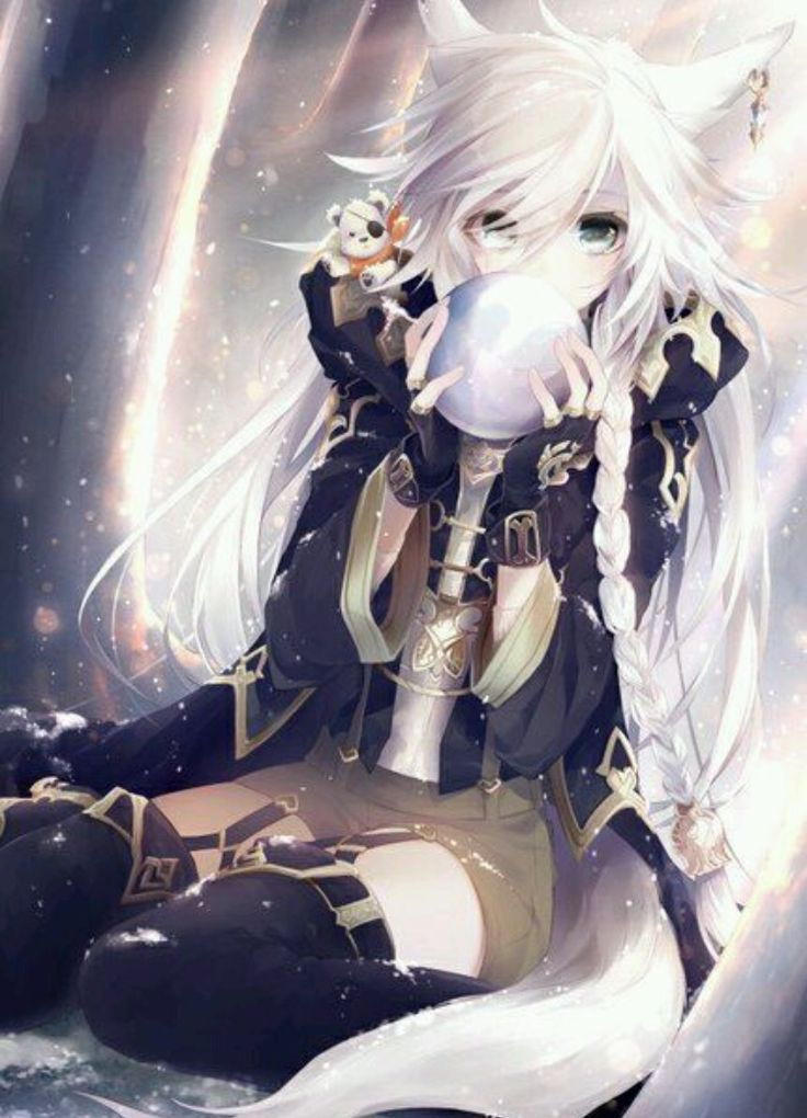 Anime Girl with White Hair Red Eyes | Anime Wolf Girl With White Hair And Red Eyes white hair images - less ...