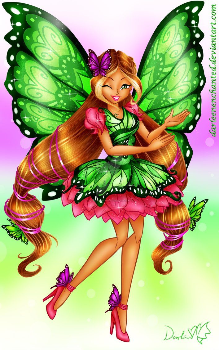 Winx Club Butterfly Fairy Flora By Darleenenchanted