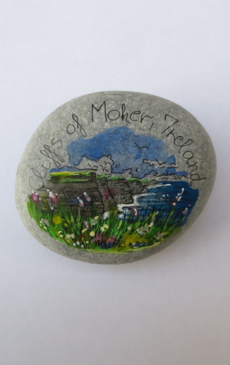 Pebble Landscape-Cliffs Of Moher,Ireland by PebbleAndMosaic on Etsy