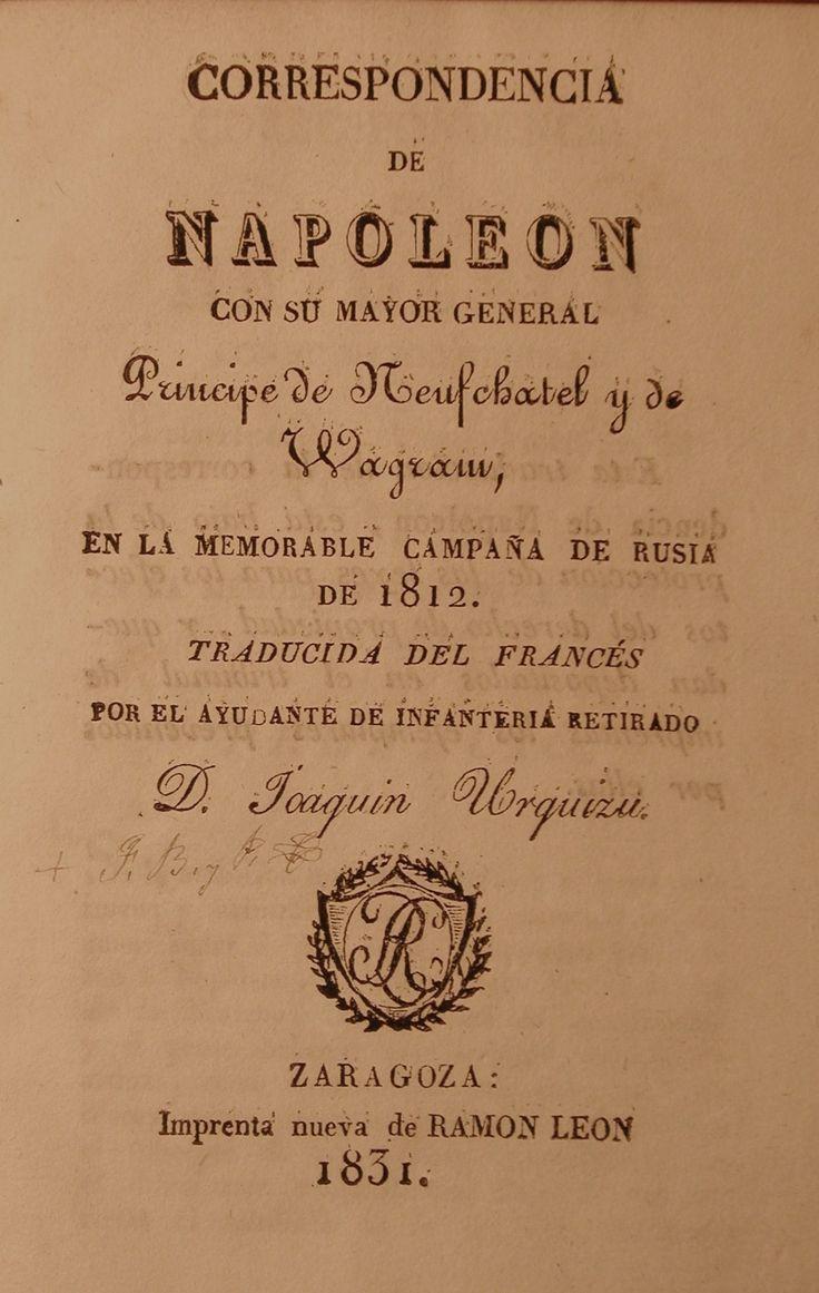 Urquizu - Correspondencia de Napoleón 1831 #lagalatea www.lagalatea.es