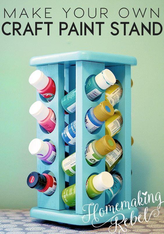 Craft Paint Organizer | Crafts & DIY | Paint organization, Craft