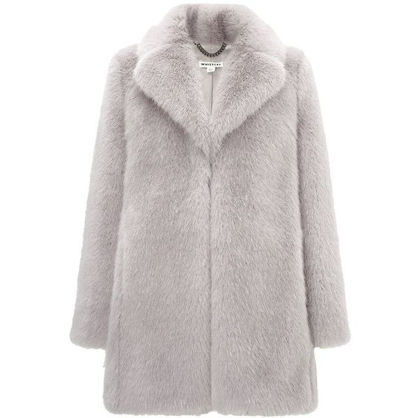 Whistles Kumiko Faux Fur Coat found on Polyvore