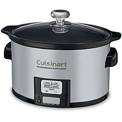 @Overstock - Enjoy healthy, home-cooked meals even when busy with the Cuisinart programmable slow cooker. They are so handy for keeping food warm, cooking while you're somewhere else.