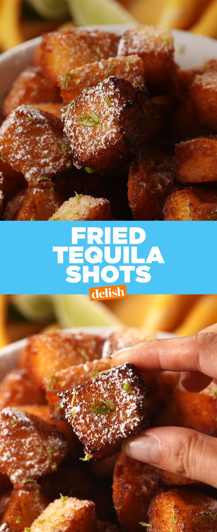 How many of these Deep Fried Tequila Shots are you throwing back this weekend?Get the recipe from Delish.com.