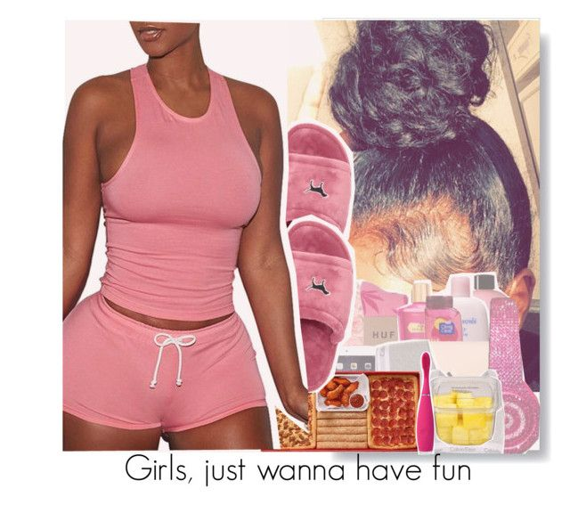 """Sleepover"" by s0-childish ❤ liked on Polyvore featuring Victoria's Secret and FOREO"