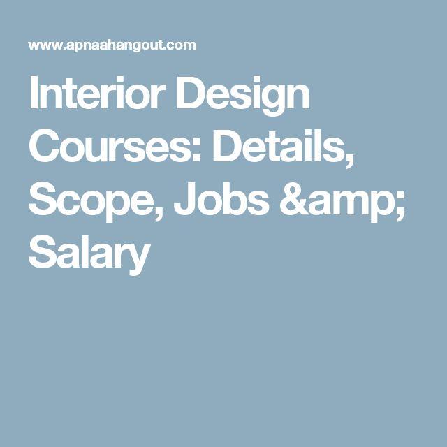 Best 25 Interior Design Salary Ideas On Pinterest