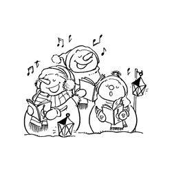 Tampon chorale bonhomme de neige coloriage de noel - Chorale dessin ...