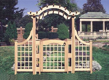 Garden Arbor With Gate: The Garden Gate By Trellis Structures