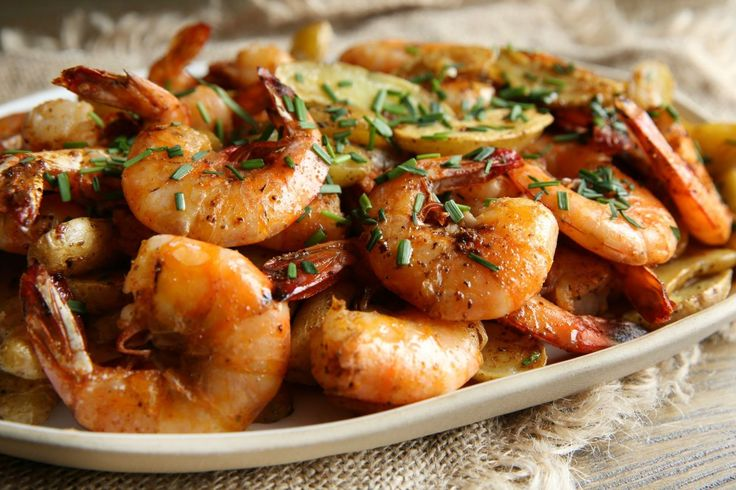 Old Bay Peel-and-Eat Shrimp with Roasted Fingerling Potatoes