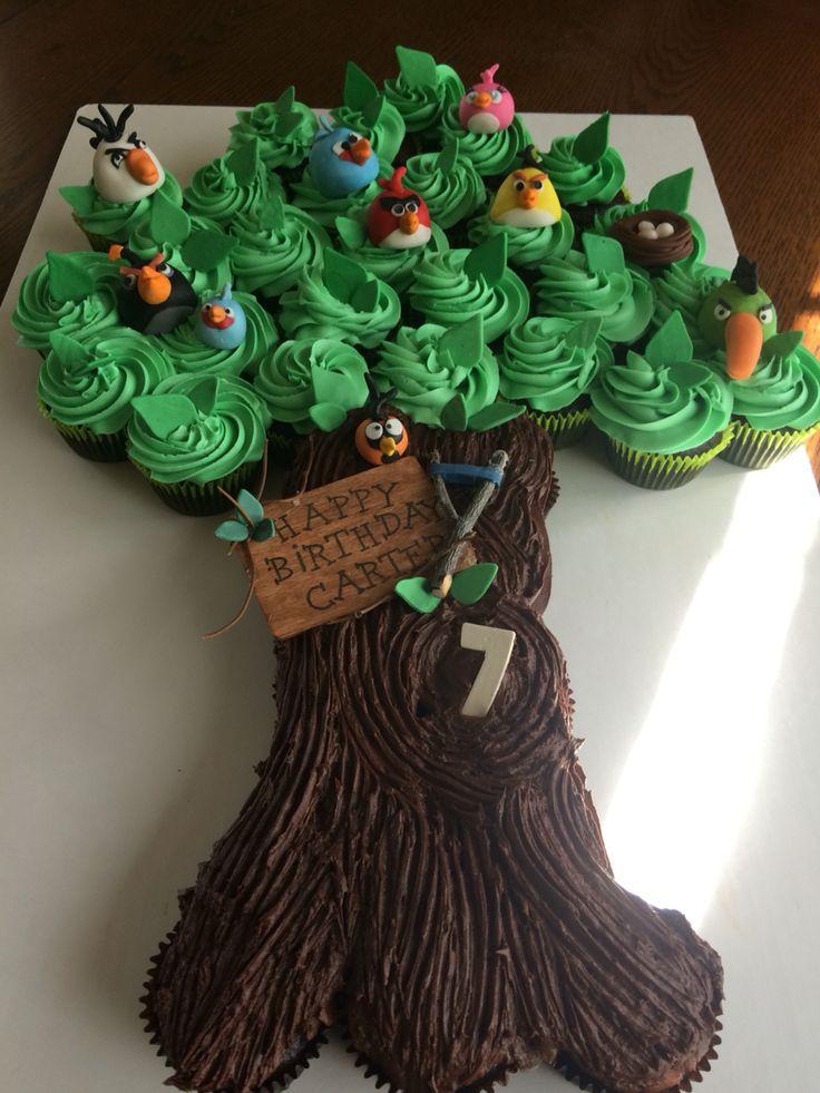 Angry Birds Cupcake Tree