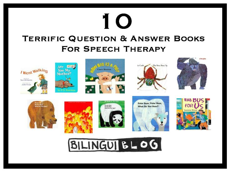 Bilinguiblog - Question and Answer stories are great for therapy because: The repetition of the same questions, and often similar answers, helps increase students' participation with increased opportunities to practice a question or sentence structure Question and Answer stories provide great exposure to early developing question types. They provide an opportunity to learn conversational turn taking --- And more!