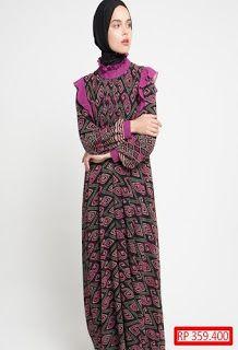 Gamis Batik Kombinasi Lengan Terompet Baju Koko Batik Kombinasi