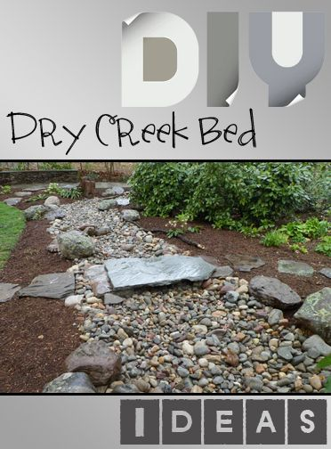 How to DIY a Dry Creek Bed in Your Landscape.  Great ideas, designs and tutorials.