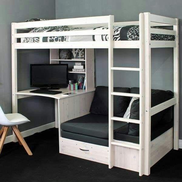 Pin By 𐌌ᛙᚱ𐌔𐌀 On Bedroom S For Kid S Diy Loft Bed Kids Loft