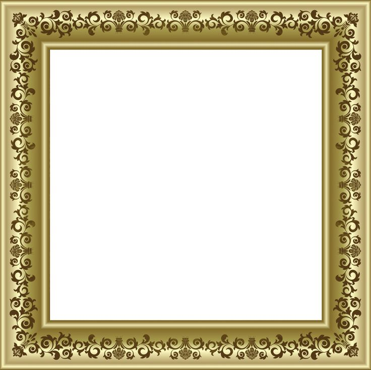 Gold Photo Frame Png With Brown Ornaments Png Frames