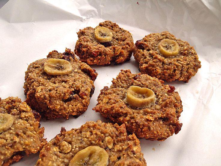Power-Cookies mit Bananen und Haferflocken