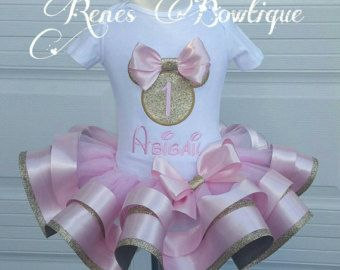 Cheetah Minnie Mouse Ribbon Tutu Set by RenesBowtique on Etsy
