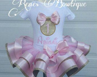Cheetah Minnie Mouse Ribbon Tutu Set by RenesBowtique on Etsy