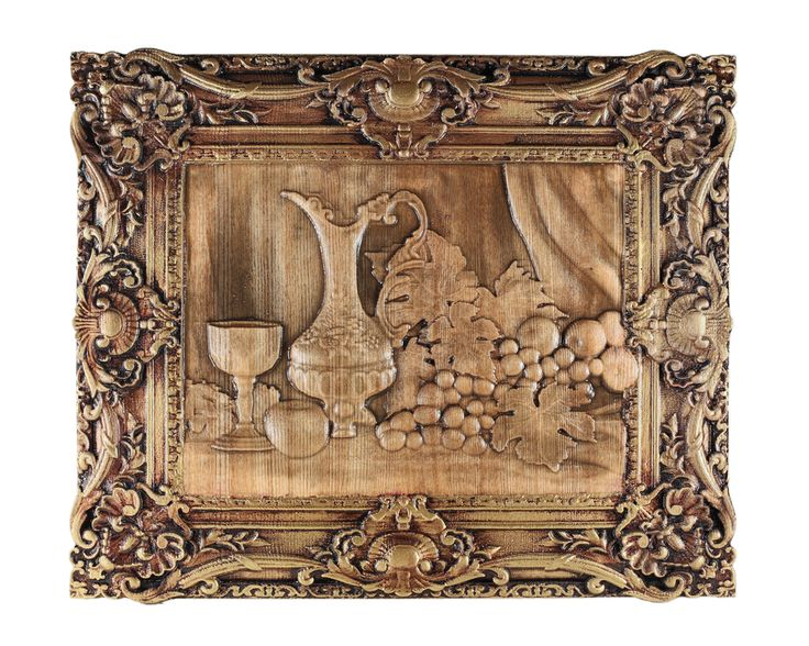 "Carved wooden picture ""Still Life"" Ready for shipping. Size 18 * 350 * 292 mm. $100.00"