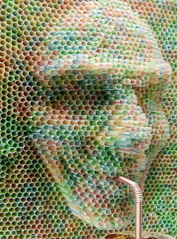plastik kunst 3d gesicht porträt (cool drinks diy)