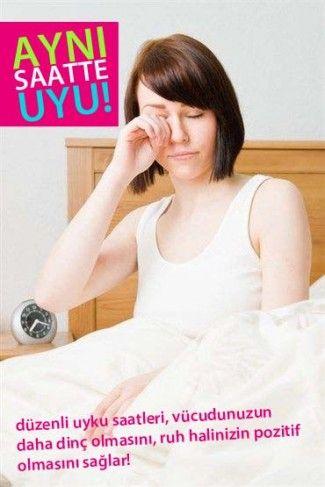 Düzenli uyuyarak Gençleşin!!