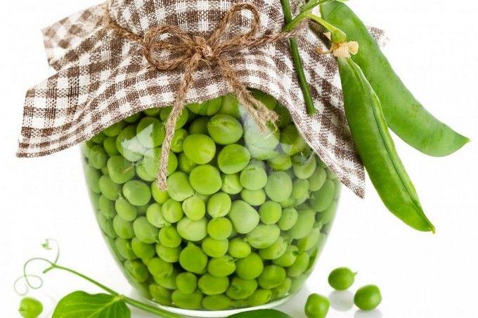 Консервированный зелёный горошек