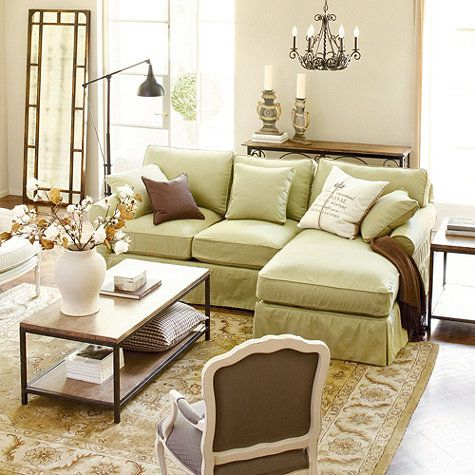 1000 Images About Slipcover Sectional Sofas On Pinterest